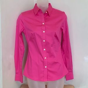 Banana Republic Happy Pink Non-Iron Fitted Shirt